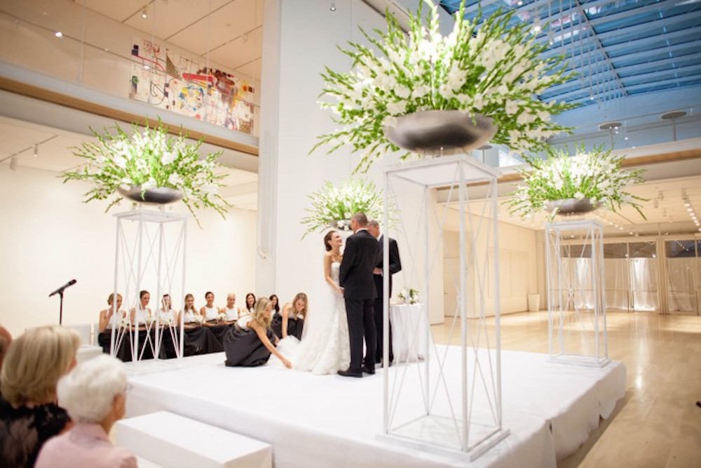 Sophisticated Contemporary Wedding Ceremony In: Ceremony Design