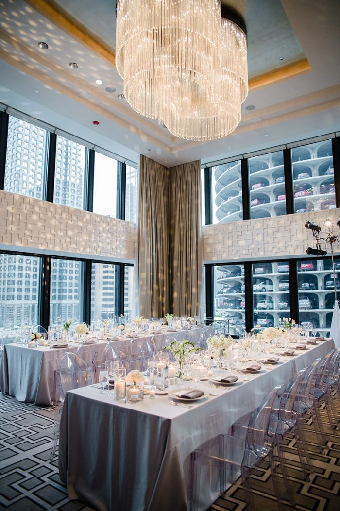 Downtown Chicago wedding reception