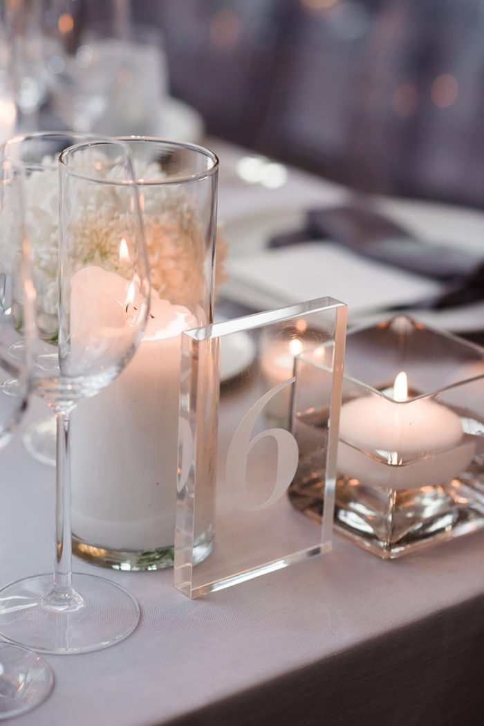 clear wedding table numbers