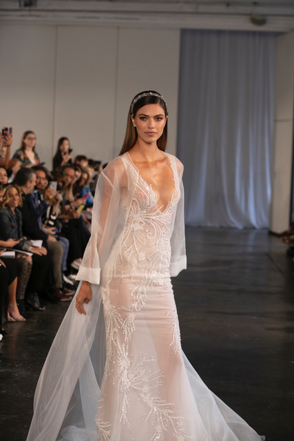 BERTA Sheer Wedding Dress Spring 2019 SQN Events by Collin Pierson Photography