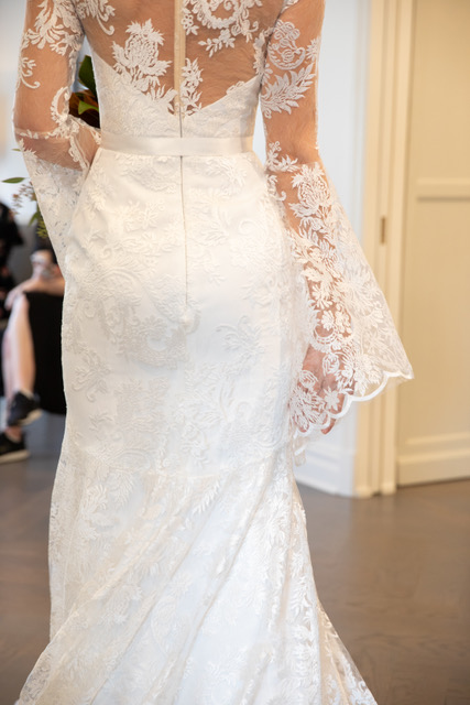 Romona Keveza Lace Wedding Dress Long Sleeves Spring 2019 SQN Events by Collin Pierson Photography