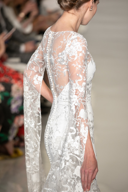 Theia Lace Wedding Dress Long Sleeve Spring 2019 SQN Events by Collin Pierson Photography