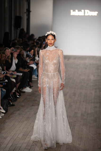Inbal Dror Sheer Wedding Dress Spring 2019 SQN Events by Collin Pierson Photography