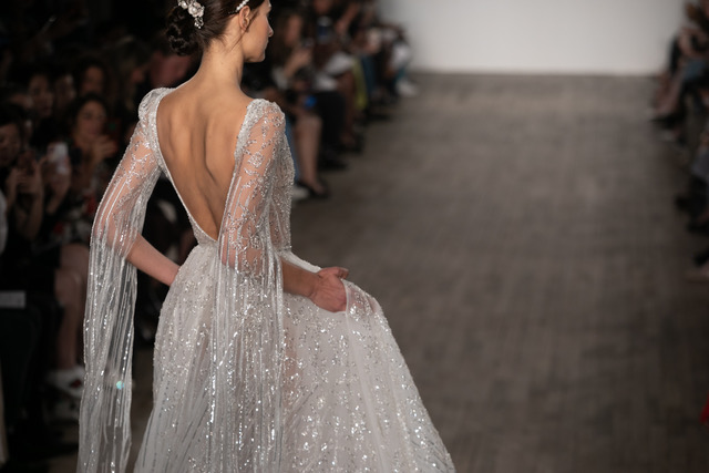 Inbal Dror Sparkle Wedding Dress Spring 2019 SQN Events by Collin Pierson Photography