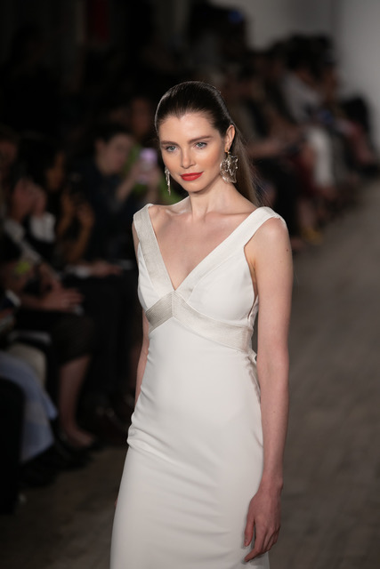 Anne Barge V-Neck Wedding Dress Spring 2019 SQN Events by Collin Pierson Photography