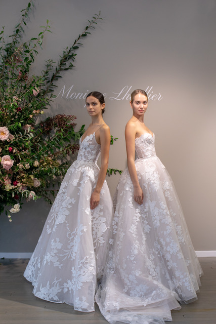 Monique Lhullier Lace Wedding Dresses Spring 2019 SQN Events by Collin Pierson Photography