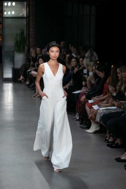 Amsale Wedding Jumpsuit Spring 2019 SQN Events by Collin Pierson Photography